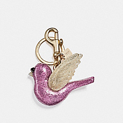 COACH F21395 Bird Bag Charm GOLD/METALLIC LILAC
