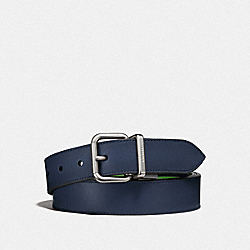 COACH F21488 Harness Buckle Cut-to-size Reversible Belt, 32mm DENIM/UTILITY