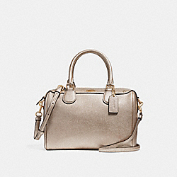 MINI BENNETT SATCHEL - f21508 - PLATINUM/light gold