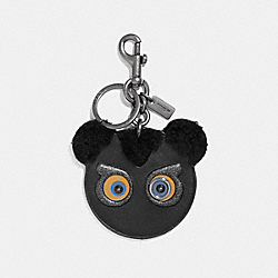 COACH F21537 - FUZZ FACE BAG CHARM BLACK/BLACK