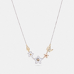 COACH F21628 Wildflower Bouquet Necklace SILVER/MULTI