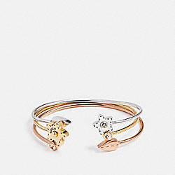 WILDFLOWER BOUQUET BANGLE SET - f21630 - MULTICOLOR
