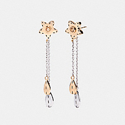 COACH F21631 Wildflower Drop Earrings MULTICOLOR