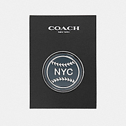COACH F21655 Nyc Baseball Pin MULTICOLOR
