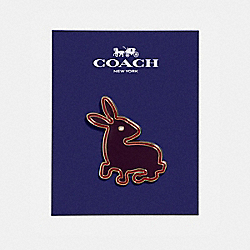 COACH BUNNY PIN - MULTICOLOR - F21667