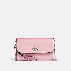COACH F21696 Chain Crossbody SILVER/BLUSH 2