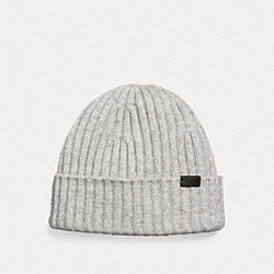 COACH F21718 - CASHMERE BEANIE HEATHER GREY