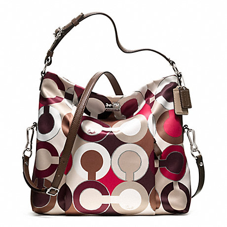 COACH f21781 MADISON ISABELLE IN OP ART METALLIC FABRIC