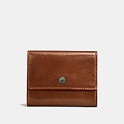COACH F21797 - COIN CASE DARK SADDLE