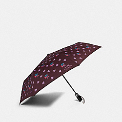 COACH F21798 Wildflower Umbrella SILVER/OXBLOOD