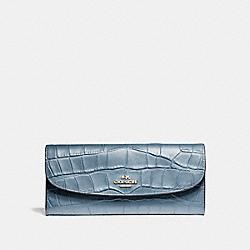 COACH F21830 Soft Wallet SILVER/DUSK 2