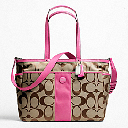 COACH F21865 Signature Stripe Multifunction