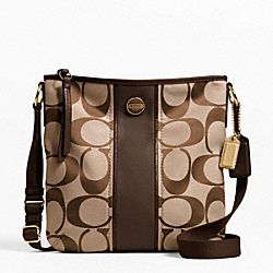 COACH F21905 - SIGNATURE STRIPE DUFFLE ONE-COLOR