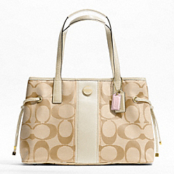 SIGNATURE STRIPE CARRYALL - f21949 - F21949B4A7G