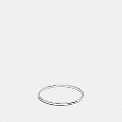 DEMI-FINE SUNBURST SIMPLE BAND RING - F22151 - SILVER