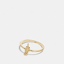 COACH F22157 Mini Demi-fine Feather Ring GOLD