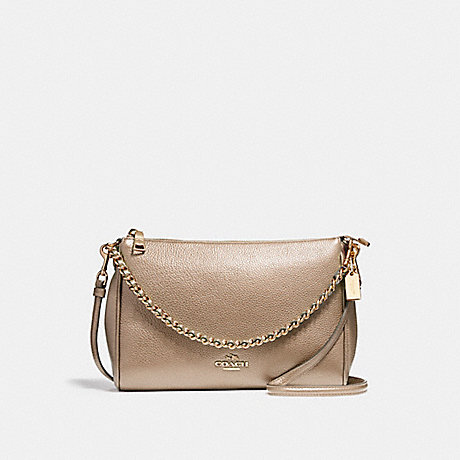COACH f22207 CARRIE CROSSBODY LIGHT GOLD/PLATINUM