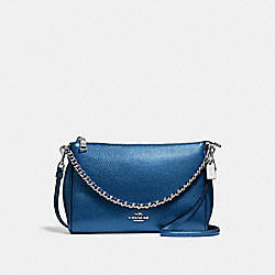 COACH F22207 - CARRIE CROSSBODY BLACK ANTIQUE NICKEL/METALLIC NAVY