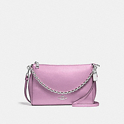 COACH F22207 Carrie Crossbody SILVER/METALLIC LILAC
