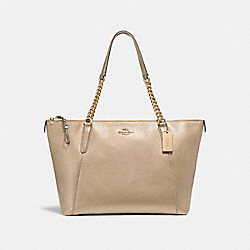 COACH F22208 Ava Chain Tote LIGHT GOLD/PLATINUM