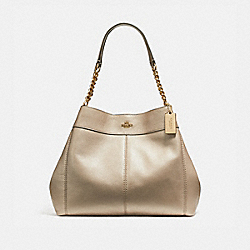COACH F22209 Lexy Chain Shoulder Bag LIGHT GOLD/PLATINUM