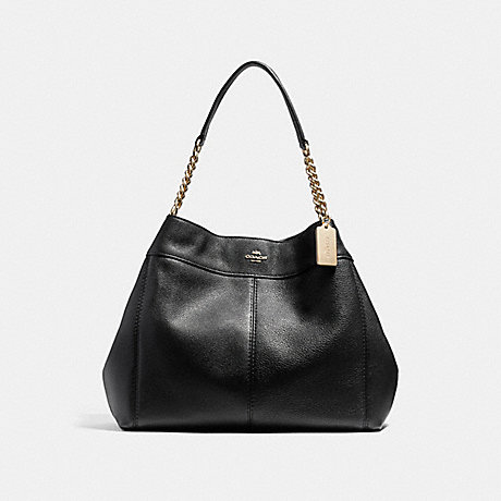 COACH F22210 LEXY CHAIN SHOULDER BAG BLACK/LIGHT-GOLD