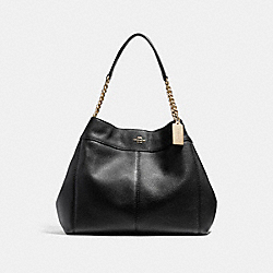 LEXY CHAIN SHOULDER BAG - f22210 - LIGHT GOLD/BLACK