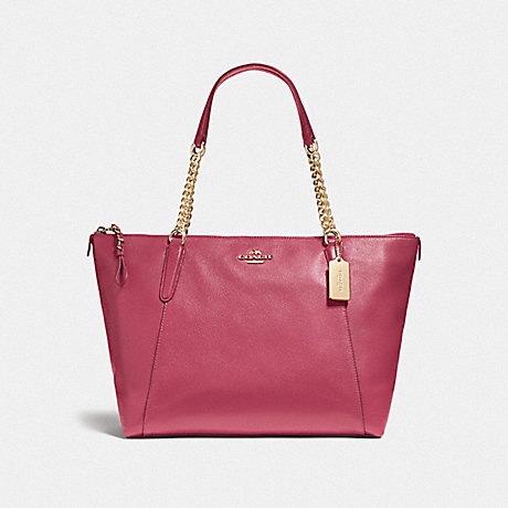 COACH f22211 AVA CHAIN TOTE LIGHT GOLD/ROUGE