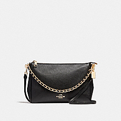 COACH F22212 Carrie Crossbody LIGHT GOLD/BLACK