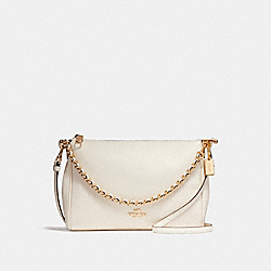 COACH F22212 Carrie Crossbody LIGHT GOLD/CHALK