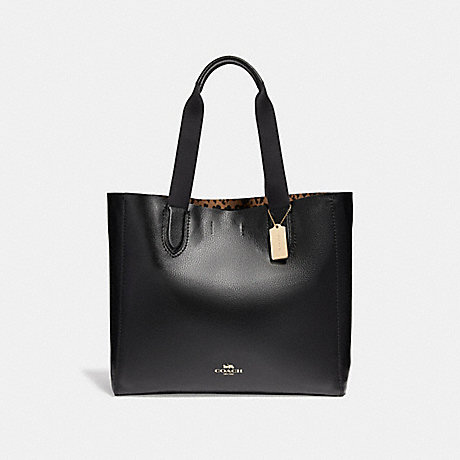 COACH f22218 LARGE DERBY TOTE LIGHT GOLD/BLACK