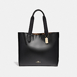 LARGE DERBY TOTE - f22218 - LIGHT GOLD/BLACK
