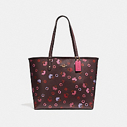REVERSIBLE CITY TOTE WITH PRIMROSE FLORAL PRINT - f22236 - IMFCG