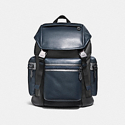 COACH F22239 Terrain Trek Pack BLACK ANTIQUE NICKEL/DENIM/GRAPHITE