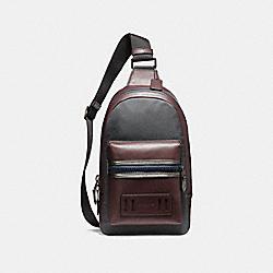 COACH F22242 Terrain Pack BLACK ANTIQUE NICKEL/OXBLOOD/MIDNIGHT NAVY