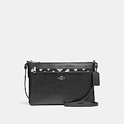 COACH F22251 - EAST/WEST CROSSBODY WITH POP-UP POUCH WITH WILD PLAID PRINT SVMRW