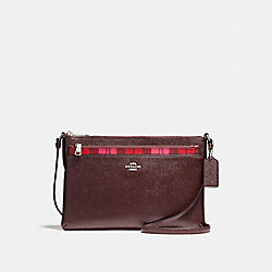 COACH F22252 East/west Pop Crossbody With Shadow Plaid Print SVMRV