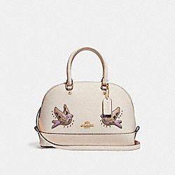 COACH F22254 Mini Sierra Satchel With Bird LIGHT GOLD/CHALK