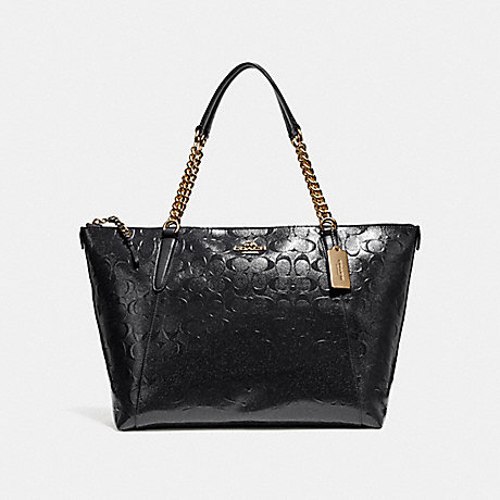 COACH f22260 AVA CHAIN TOTE LIGHT GOLD/BLACK