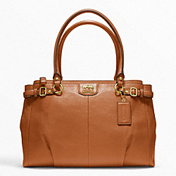 COACH F22262 Madison Leather Kara Carryall BRASS/COGNAC
