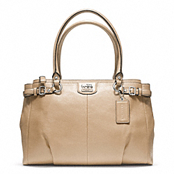 COACH F22262 Madison Leather Kara Carryall SILVER/SAND