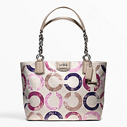 COACH F22286 Madison Metallic Gesso Op Art Tote