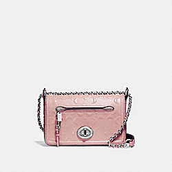 COACH F22292 - LEX SMALL FLAP CROSSBODY SILVER/BLUSH 2