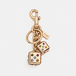 DICE BAG CHARM - f22295 - GOLD/GOLD