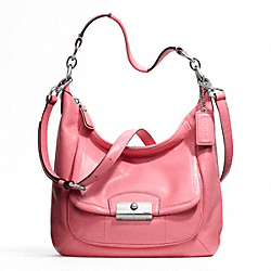 KRISTIN LEATHER HOBO - f22306 - SILVER/ROSE
