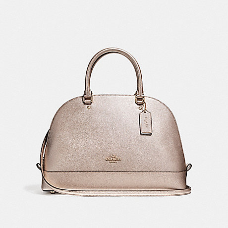 COACH f22313 SIERRA SATCHEL LIGHT GOLD/PLATINUM