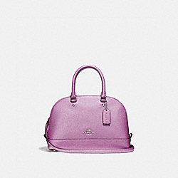 COACH F22315 Mini Sierra Satchel SILVER/METALLIC LILAC