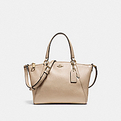 MINI KELSEY SATCHEL IN METALLIC PEBBLE LEATHER - f22316 - LIGHT GOLD/PLATINUM