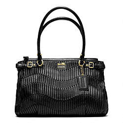 COACH F22325 - MADISON GATHERED LEATHER KARA CARRYALL ONE-COLOR