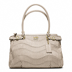 COACH F22325 - MADISON GATHERED LEATHER KARA CARRYALL BRASS/PEARL